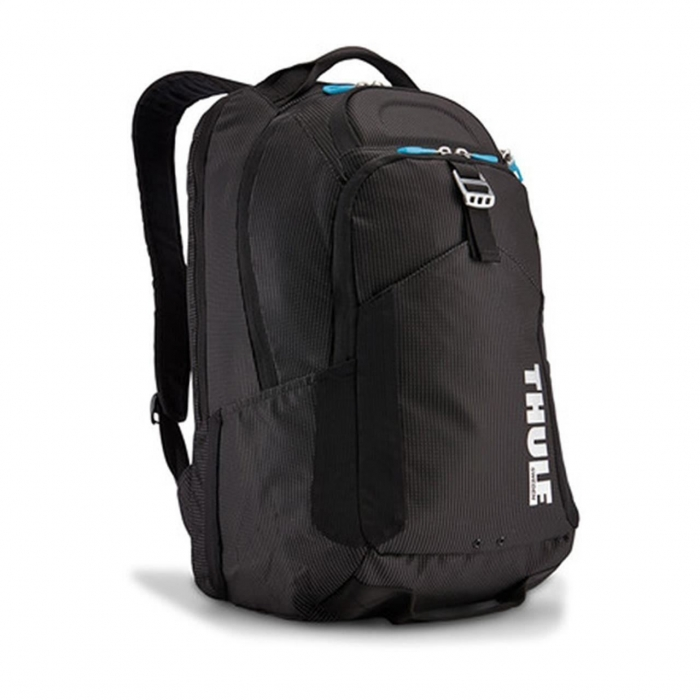 Rucsac urban cu compartiment laptop Thule Crossover 32L Black Professional Backpack pentru 15 Apple MacBook iPad pocket w Safe zone