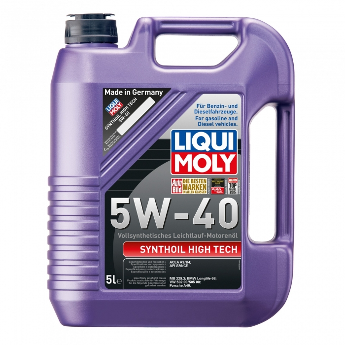 Ulei de motor Liqui Moly Synthoil High Tech 5W 40 5L